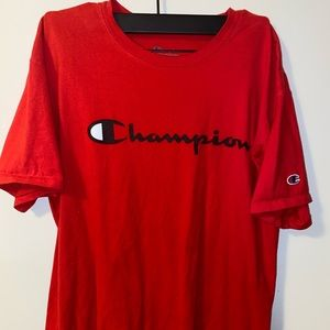Red Champion Tee